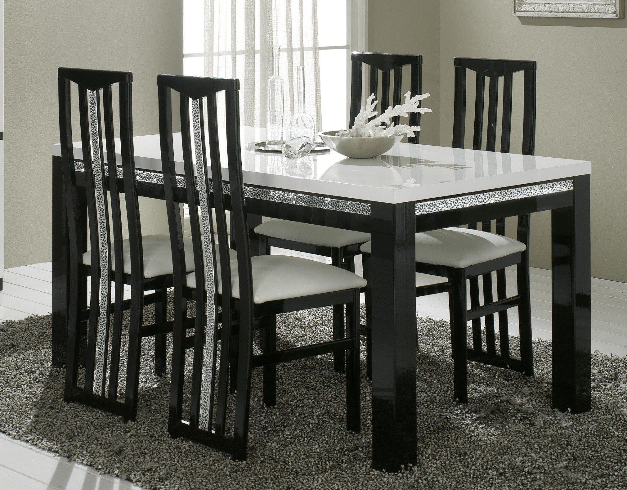 Salle manger cromo sp cial for Table salle a manger noir et blanc